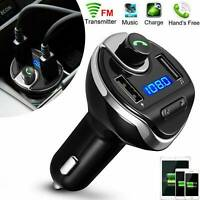 Wireless In-Car Bluetooth FM Transmitter MP3 Radio Adapter Car USB Charger Best