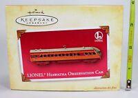 Hallmark Keepsake Ornament - LIONEL Hiawatha Observation Car - Die-Cast - 2004
