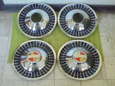 "NOS 1960's Jeep 4x4 Hub Caps 16"" Set of 4 Cutlas Turbine Deluxe Wheel Covers"