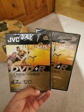 JVC  DVD+R DVD RECORDABLE  FOR VIDEO DATA  STORAGE  120min x2  4.7GB 8X SPEED