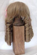 """perruque Jumeau®blond cendré boucles 39/41cm-poupée ancienne-doll Wig head sz16"""""""
