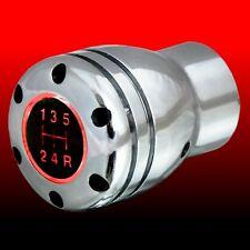 Schaltknauf Schalthebel universal RGA glänzend poliert mit roter Beleuchtung