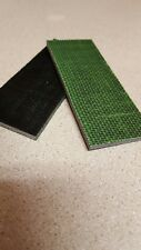 BLACK AND LIME GREEN BURLAP MICARTA KNIFE HANDLE SCALE BLANKS 1/4""