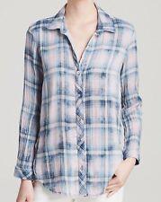 NEW CLOTH & STONE WOMEN SzS BUTTON DOWN LONG SLEEVE SHIRT PASTEL PINK/BLUE $167.