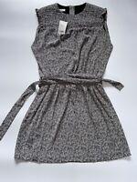 Mango Suit Collection Black & White Summer Vestido Dress Size UK 12 EURO L BNWT