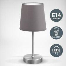 Kleine Tischlampe Stoffschirm Textil grün mit Dimmer Touchfunktion /& 5 Watt LED