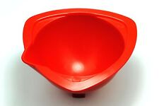 """5x Red 4"""" Plastic Children's Baking Mixing Bowls. Stackable, Pouring Lip. S7652"""