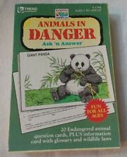 *~*Vintage 1990 Animals In Danger - Ask 'N Answer Cards By Trend Enterprises*~*