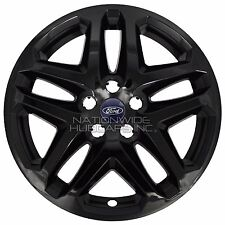 "4 BLACK 13-16 Ford Fusion 17"" Wheel Covers Rim Skins Hub Caps fits Alloy Wheels"