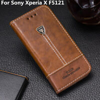 For Sony Xperia X F5121 Flip Leather Shockproof Phone Cover Stand Wallet Case