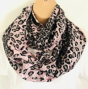 Gorgeous Leopard Animal Print Oversized Circle Loop Infinity Scarf Snood New