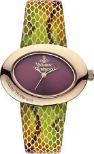 Vivienne Westwood Ladies Ellipse Leather Strap Watch VV014RS