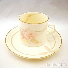 Mikasa Ivory Bone China WITH LOVE A9201 Cup & Saucer Set(s) EXCELLENT
