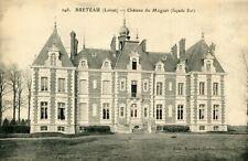 Carte BRETEAU Château du Muguet Façade Est
