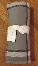 "NEW Pottery Barn Harrison Plaid 50x60"" Fringe Throw GRAY"