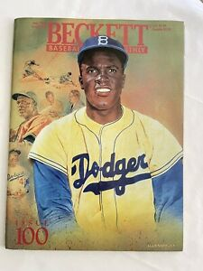 Beckett Baseball Card Monthly July 1993 Issue #100 Jackie Robinson