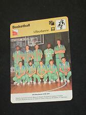 FICHE CHAMPION BASKET-BALL  ASVEL AS VILLEURBANNE  1976-1977  ( maillot )