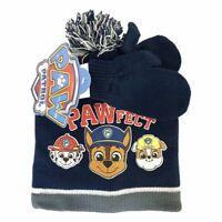 Nickelodeon Paw Patrol Hat Beanie and Gloves Set Kids | Navy Blue