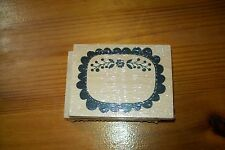 STAMP  LABEL WITH FLOWERS   8X6  CM NEW