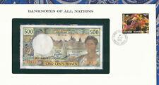 Banknotes of All Nations Tahiti 1985 500 Francs UNC P25d prefix Z.2 sign 5