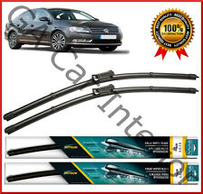 "VW Passat B7 Salon / Estate 2010-2014 Front Pair Flat Aero Wiper Blades 24"" 19"""