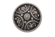 tolle Metall Knöpfe silber antik Tracht Dirndl Jacke 17mm 5 Stück