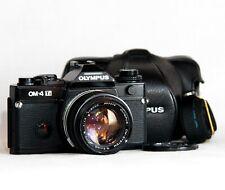 SERVICED Olympus OM-4 Ti Classic 35mm Film Camera Zuiko 1.4 50mm Lens *Near Mint