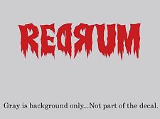 "REDRUM Murder Decal/sticker from ""The Shining"" Decal/Sticker Steven King"