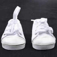 Handmade Canvas White Shoes For 18inch Girl Doll Cute Baby Kids Toy Hot J9B6