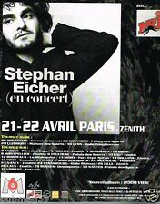 Publicité advertising 1997 Concert Stephan Eicher Paris Zénith