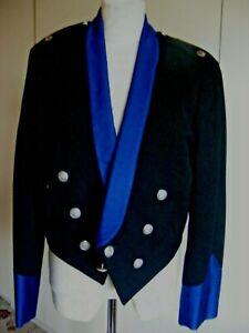 "Vintage military uniform jacket Mess Jacket dated 1969 black & blue chest 40"""