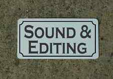 SOUND & EDITING Metal Sign 4 Community Play House Theater Drama Class