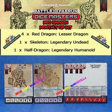 DUNGEONS DRAGONS DICE MASTERS OP KIT 2016 BATTLE FOR FAERUM RED DRAGON -Skeleton