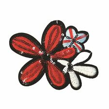 PC2465B - Sequin Red Flower (Iron On)