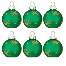 Christmas 6 x Glass Bauble Table Green Place Card Holder FREE Place Cards