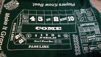 """Grand Casino Craps Table Green Blanket Throw Tapestry Wall Hanging 60"""" x 48"""""""