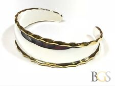 Bracelet - Mexico - Signed Cii Beautiful Ladies Sterling Silver & Brass Cuff