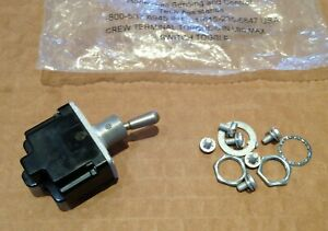 HONEYWELL  2TL1-3 Toggle Switch TL Series, DPST, On-On  MS24524-23