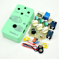 DIY Tremolo Guitar Pedal Kit With 3PDT Switch and Pre-drilled 1590B Aluminum Box