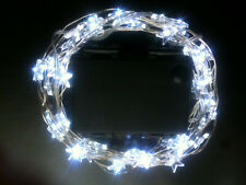 60 LED STAR SHAPED AA Battery 6m String Light+ON+FLASH+Timer+Use In/Outdoors!