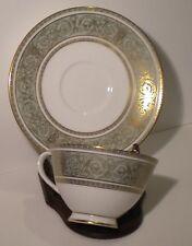 Royal Doulton Tea Cup And Suacer English Green & Gold Renaissance 005