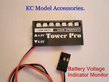 Receptor de voltaje de batería Checker indicador 4,8 V 6.0 V R/c Reino Unido Stock.