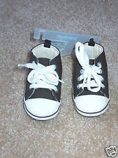 Nwt Gymboree Little Conductor Brown Crib Shoes sz 04!