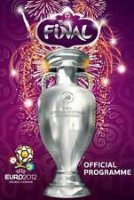 * EURO 2012 FINAL SPAIN v ITALY (OFFICIAL MATCH PROGRAMME - ENGLISH LANGUAGE) *