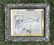 ANTIQUE 1891 CHICAGO TIMES ANNUAL CHRISTMAS COMPETITION AUTHORSHIP AWARD