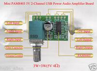 PAM8403 5V 3W+3W 2 Channel Mini Audio Digital Amplifier Board with Potentiometer