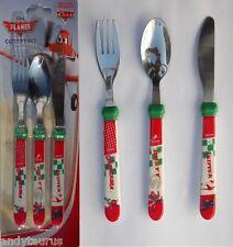 Childrens Disney Planes Knife Fork Spoon Cutlery Set Age 3 +