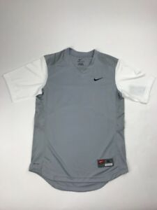 Nike Turn Two Fast Pitch SS Jersey Grey White Dri-Fit Women's Medium 578469-043