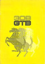 Brochure Depliant Ferrari 308 GTB 1975 ITA FRA ENG 16 pagine Ottime Condizioni