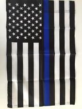 "12"" x 18"" Thin Blue Line American Garden Flag - Police - Small Yard Banner"